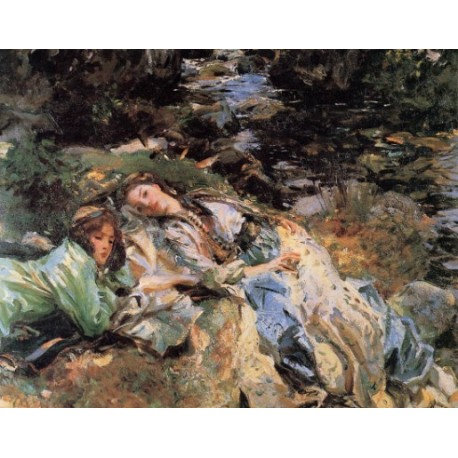 The Brook 1907 by John Singer Sargent - Art gallery oil painting reproductions