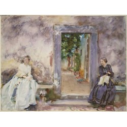 The Garden Wall 1910 by John Singer Sargent - Art gallery oil painting reproductions
