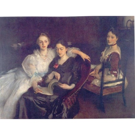 The Misses Vickers 1884 by John Singer Sargent - Art gallery oil painting reproductions
