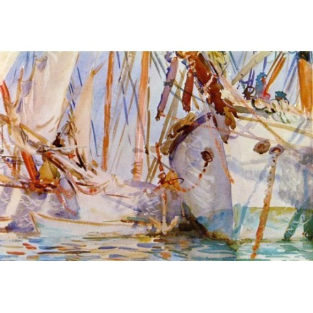 White Ships 1908 by John Singer Sargent - Art gallery oil painting reproductions