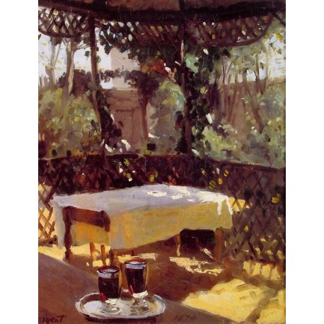 Wineglasses 1875 by John Singer Sargent - Art gallery oil painting reproductions