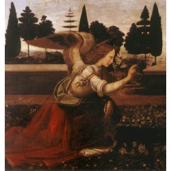 Annunciation detail 2 by Leonardo Da Vinci-Art gallery oil painting reproductions