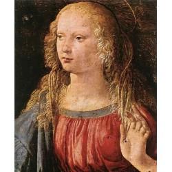 Annunciation-detail 3 by Leonardo Da Vinci-Art gallery oil painting reproductions