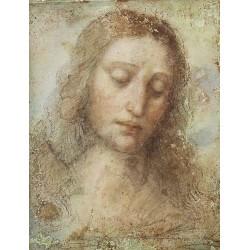 Head of Christ by Leonardo Da Vinci - Art gallery oil painting reproductions