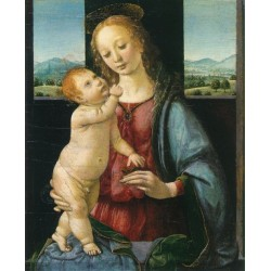 Madonna and Child with a Pomegranate by Leonardo Da Vinci - Art gallery oil painting reproductions