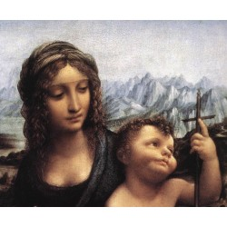Madonna with the Yarnwinder detail by Leonardo Da Vinci-Art gallery oil painting reproductions
