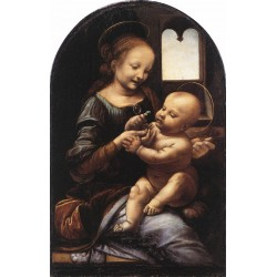 Madonna With a Flower by Leonardo Da Vinci-Art gallery oil painting reproductions