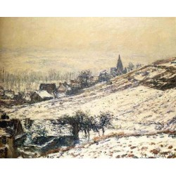 Winter at Giverny by Claude Oscar Monet - Art gallery oil painting reproductions