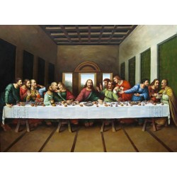 Original Picture of the Last Supper by Leonardo Da Vinci-Art gallery oil painting reproductions