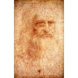 Self Portrait by Leonardo Da Vinci-Art gallery oil painting reproductions