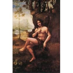 St John in the Wilderness by Leonardo Da Vinci-Art gallery oil painting reproductions
