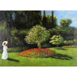 Woman in the Garden by Claude Oscar Monet - Art gallery oil painting reproductions
