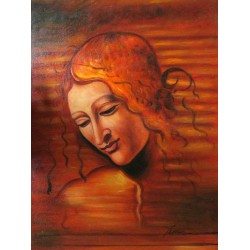 Testa di Faniciulla Detta by Leonardo Da Vinci-Art gallery oil painting reproductions