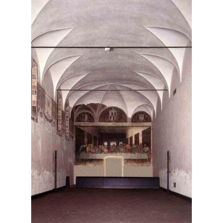 The Refectory with the Last Supper by Leonardo Da Vinci-Art gallery oil painting reproductions