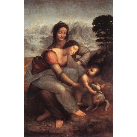 The Virgin and Child with St. Anne by Leonardo Da Vinci-Art gallery oil painting reproductions