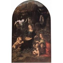 Virgin of the Rocks by Leonardo Da Vinci-Art gallery oil painting reproductions