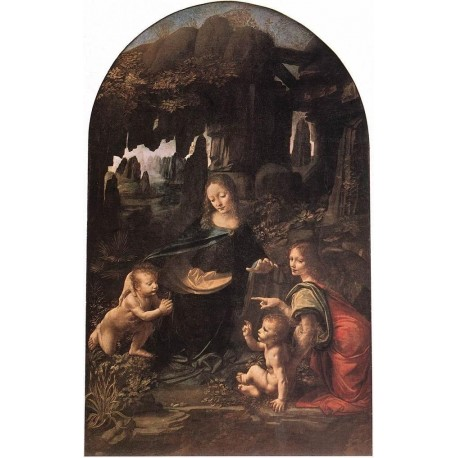 Virgin of the Rocks by Leonardo Da Vinci-Art gallery oil painting reproductions