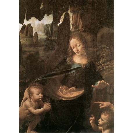 Virgin of the Rocks, detail by Leonardo Da Vinci-Art gallery oil painting reproductions