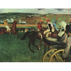 At the Races by Edgar Degas-Art gallery oil painting reproductions