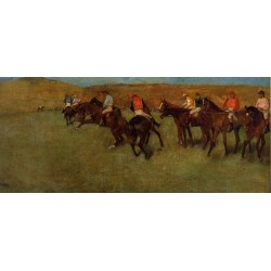 At the Races Before the Start by Edgar Degas-Art gallery oil painting reproductions