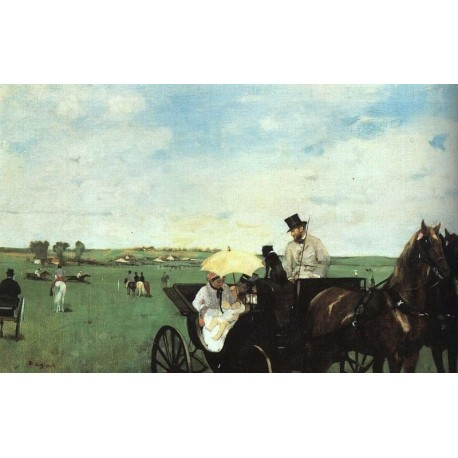At the Races in the Country by Edgar Degas-Art gallery oil painting reproductions