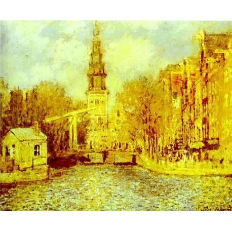 Zuiderkerk in Amsterdam by Claude Oscar Monet - Art gallery oil painting reproductions