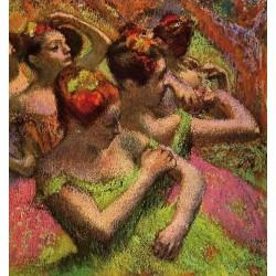 Ballerinas Adjusting Their Dresses by Edgar Degas - Art gallery oil painting reproductions