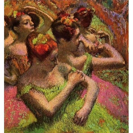 Ballerinas Adjusting Their Dresses by Edgar Degas - Art gallery oil painting reproductions