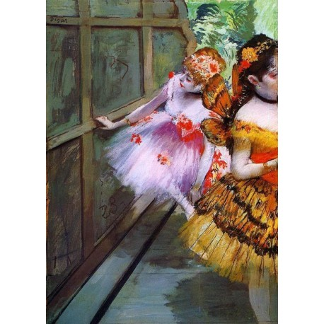 Ballet Dancers in Butterfly Costumes detail by Edgar Degas- Art gallery oil painting reproductions