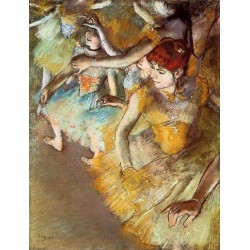 Ballet Dancers on the Stage by Edgar Degas- Art gallery oil painting reproductions