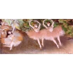 Ballet Scene by Edgar Degas-Art gallery oil painting reproductions