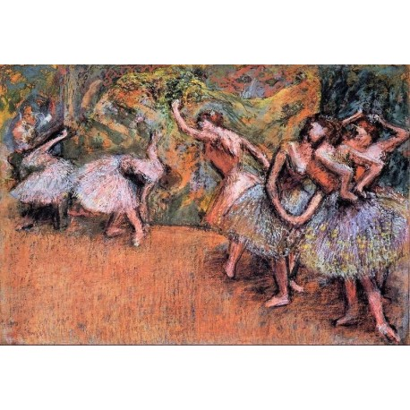 Ballet Scene III by Edgar Degas - Art gallery oil painting reproductions