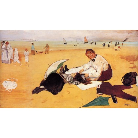 Beach Scene by Edgar Degas - Art gallery oil painting reproductions