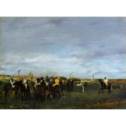 Before the Race I by Edgar Degas - Art gallery oil painting reproductions
