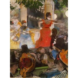 Café Concert at Les Ambassadeurs by Edgar Degas - Art gallery oil painting reproductions