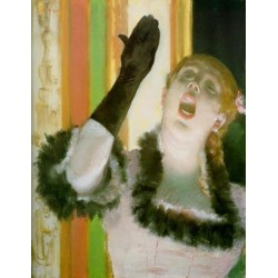 Cafe Concert Singer by Edgar Degas - Art gallery oil painting reproductions