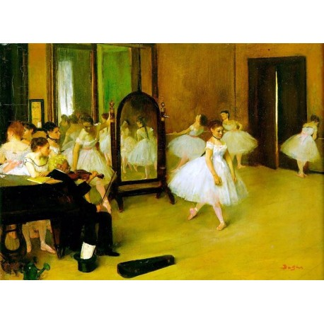Dance Class by Edgar Degas - Art gallery oil painting reproductions
