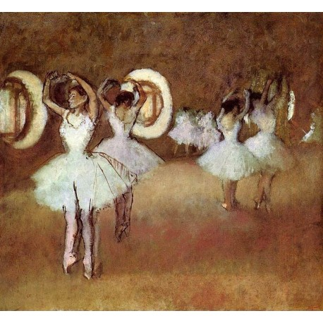 Dance Rehearsal in the Studio of the Opera by Edgar Degas - Art gallery oil painting reproductions