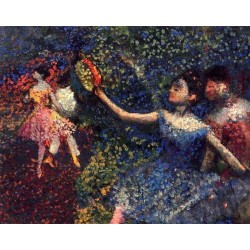 Dancer and Tambourine by Edgar Degas - Art gallery oil painting reproductions
