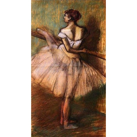 Dancer at the Barre II by Edgar Degas - Art gallery oil painting reproductions