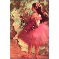 Dancer in a Rose Dress by Edgar Degas - Art gallery oil painting reproductions