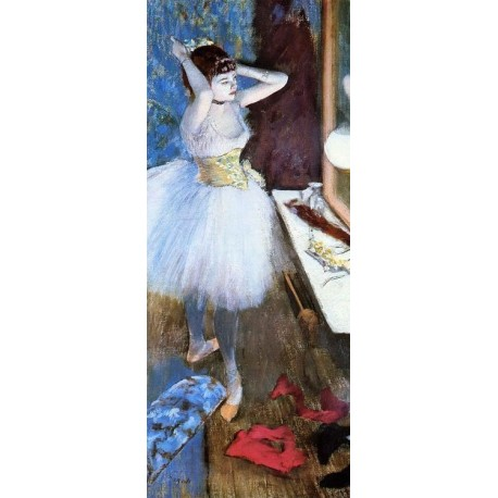 Dancer in Her Dressing Room I by Edgar Degas - Art gallery oil painting reproductions