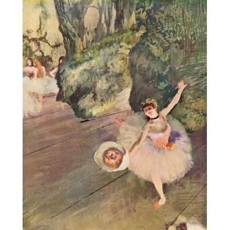 Dancer with a Bouquet of Flowers by Edgar Degas - Art gallery oil painting reproductions