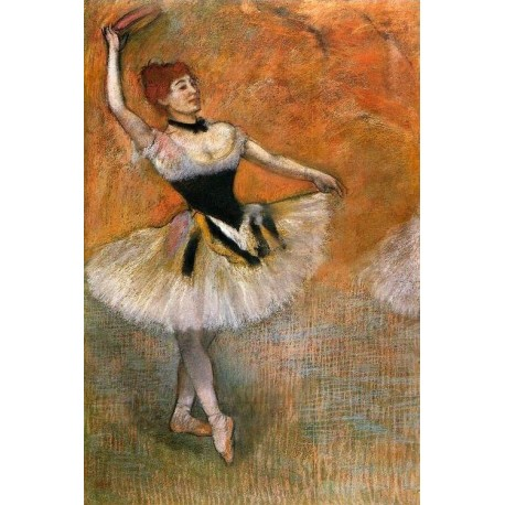 Dancer With A Tambourine by Edgar Degas - Art gallery oil painting reproductions