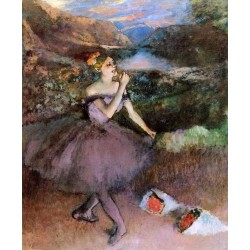 Dancer with Bouquets by Edgar Degas - Art gallery oil painting reproductions