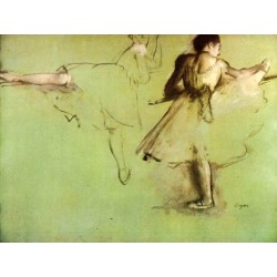 Dancers at the Barre by Edgar Degas - Art gallery oil painting reproductions