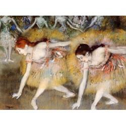 Dancers Bending Down by Edgar Degas - Art gallery oil painting reproductions