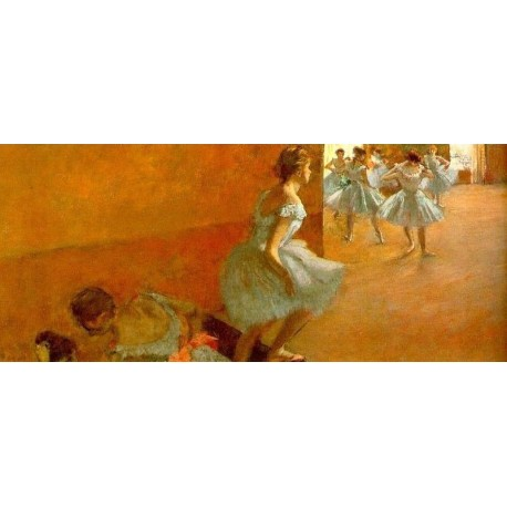 Dancers Climbing the Stairs by Edgar Degas - Art gallery oil painting reproductions