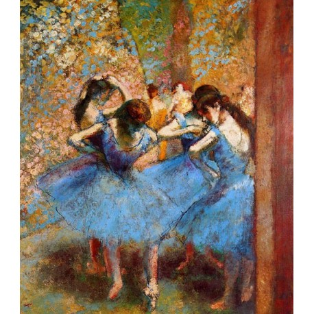 Dancers in Blue by Edgar Degas - Art gallery oil painting reproductions