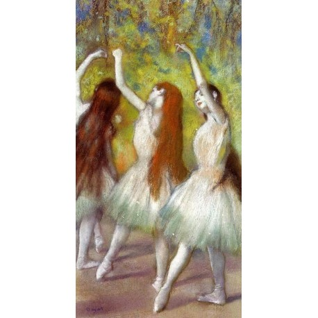 Dancers in Green by Edgar Degas - Art gallery oil painting reproductions